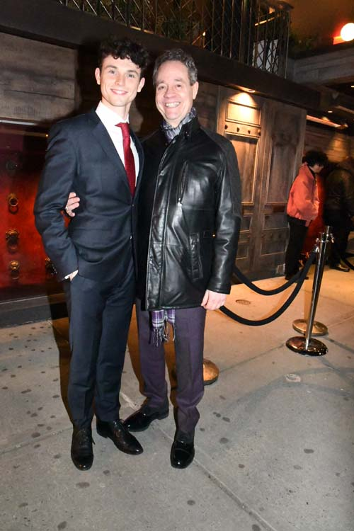 "Charlie Stemp ""Hello Dolly"" and Mark Sendroff, Entertainment Attorney.  Photo by:  Rose Billings/Blacktiemagazine.com"