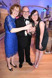 Catherina Farrell, John Farrell, Honoree and daughter Caitlin Farrell.  Photo by:  Rose Billings/Blacktiemagazine.com