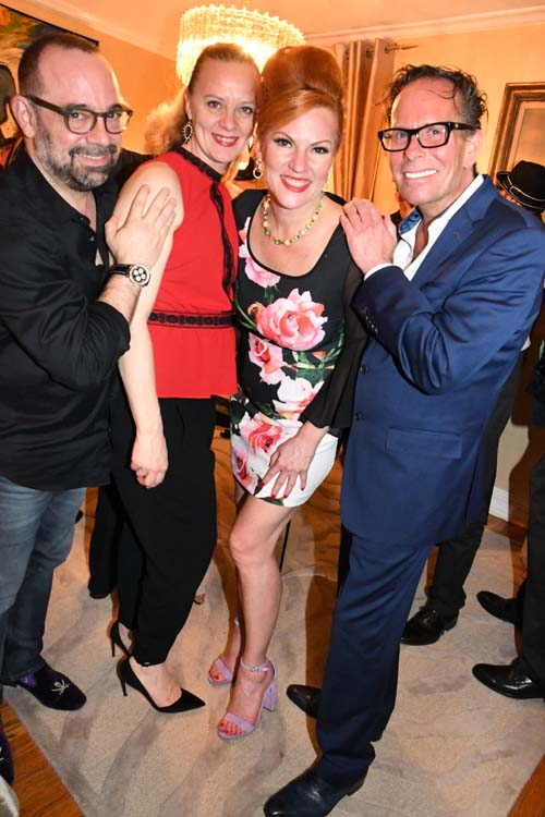 Chris and Meredith Wilford (CAMI Music) with newly engaged, Quinn Lemley  and Paul Horton of CAMA Talent..  Photo by:  Rose Billings/Blacktiemagazine.com