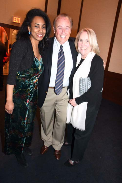 Michelle Whittaker, Roger Rosenblatt and Virginia Rosenblatt.  Photo by:  Rose Billings/Blacktiemaagzine.com