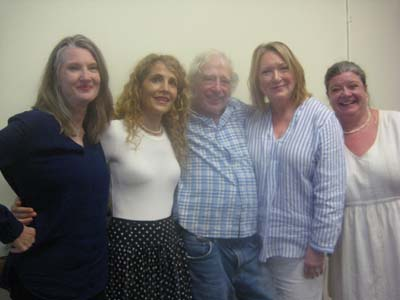 Annette O'Toole, Jean Lichty, Kristine Nielsen and Polly McKie and director Austin Pendleton .  Photo by:  Aubrey Reuben