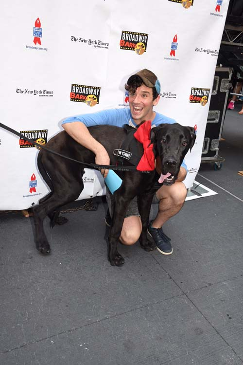 Michael Urie and dog named Michael.  Photo by:  Rose Billings/Blacktiemagazine.com