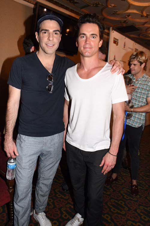 Zachary Quinto and Matt Bomer (The Boys In The Band).  Photo by:  Rose Billings/Blacktiemagazine.com