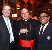 Todd Maclin,  His Eminence, Timothy Michael Cardinal Dolan and Michael Maturana