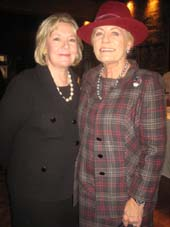 Margaret Hedberg  with Julia Kaufman.  Photo by:  Aubrey Reuben