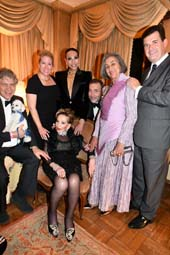 Baron Roger de Chabrol, Farley Harper, Host Jose Castelo Branco, Jeffrey BarrLuz Miriam, Sir Anthony Bailey and Birthday Her Lady Betty Grafstein DFO (center).  Photo by:  Rose Billings/Blacktiemagazine.com,