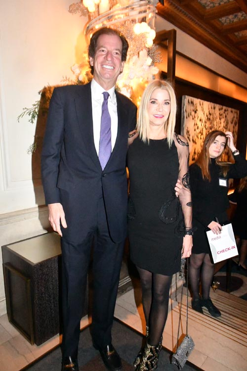Jim Coleman and Candace Bushnell.  Photo by:  Rose Billings/Blacktiemagazine.com