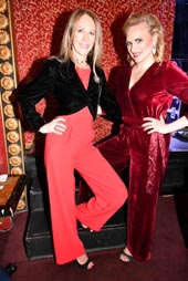 Producer, Sara Johnson Kaplan and Actress Haley Swindel (Mae West).  Photo by:   Rose Billings/Blacktiemagazine.com