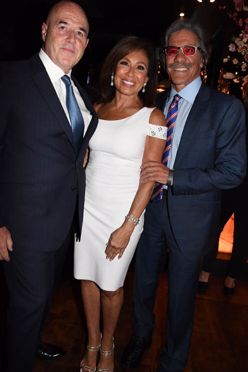 Bernie Kerik, Judge Jeanine Pirro and Geraldo Rivera.  Photo by:  Rose Billings/Blacktiemaagzine.com