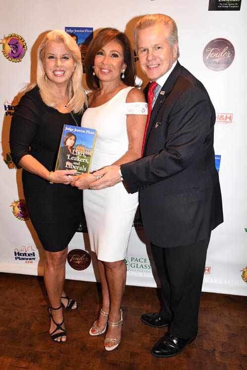 Rita Cosby, Judge Jeanine Pirro and Tomaczek Bednarek.  Photo by:  Rose Billings/Blacktiemaagzine.com