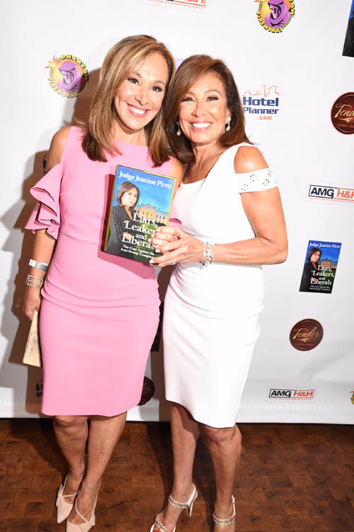 Rosanna Scotto and Judge Jeanine Pirro.  Photo by:  Rose Billings/Blacktiemagazine.com