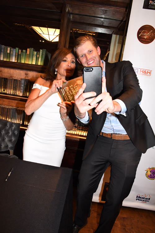 Eric Trump, Judge Jeanine Pirro .   Photo by:  Rose Billings/Blacktiemaagzine.com