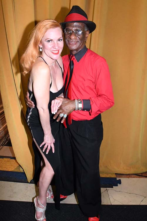 Quinn Lemley, star of Burlesque to Broadway and Bernard Dove of the Harlem Swing Dance Society .  Photo by:  Rose Billings/Blacktiemagazine.com