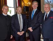 Rev. Dr. William Lupfer � Rector Trinity Church Wall Street, Andrew Kimball - Industry City, Michael Braner - Chair of The New York Landmarks Conservancy, and Richard J. Moylan - Green-Woo. d