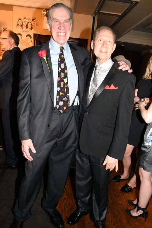 Nick Wyman and international composer and musician Russell Daisey. Photo by:  Rose Billings/Blacktiemagazine.com