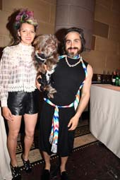 Chantal Adair, Dog Roseberg, and husband internet sensation.  Photo by:  Rose Billings/Blacktiemagazine.com