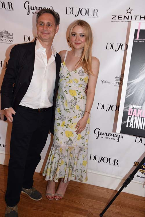 Jason Binn and Dakota Fanning.  Photo by:  Rose Billings/Blacktiemagazine.com