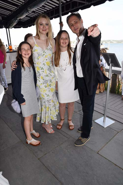 Penny Binn, Dakota Fanning, CeCe Binn and Jason Binn.  Photo by:  Rose Billings/Blacktiemagazine.com