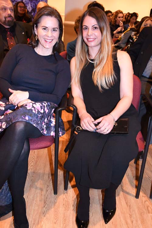 Scilla Nagy and Zsofia Laposa.  Photo by:  Rose Billings/Blacktiemagazine.com
