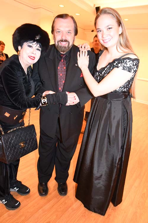 Rosemary Ponzo, Edward Anthony Ankudavich, and singer extraordinaire Reka Stakacs.  Photo by:  Rose Billings/Blacktiemagazine.com