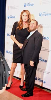 Honoree Caitlyn Jenner and Rabbi Shmuley Boteach.  Photo by:  Rose Billings/Blacktiemagazine.com