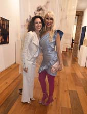 Sara Kay, Gallery Owner and Tracy Stern.  Photo by:  Rose Billings/Blacktiemagazine.com