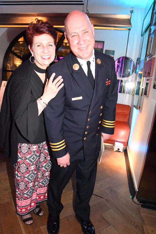 Vita Gala and NYFD Deputy Assistant Chief Michael Gala.  Photo by:  Rose Billings/Blacktiemaagzine.com