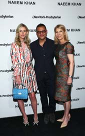 Nicky Hilton Rothschild, fashion designer Naeem Khan and Laura Forese, M.D.Photo by:  Stuart Ramson/AP Images for NewYork-Presbyterian