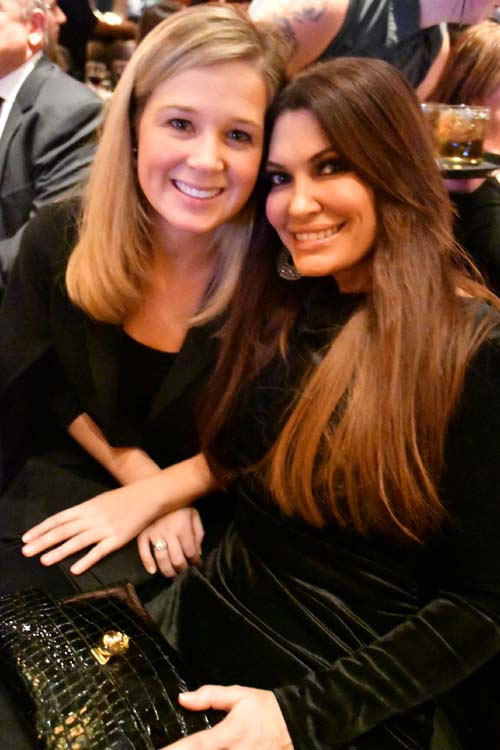 Kara Hanley and  Presenter, Kimberly Guilfoyle. Photo by:  Rose Billings/Blacktiemagazine.com