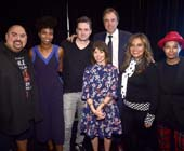 LOS ANGELES, CALIFORNIA - NOVEMBER 03: (L-R) Gabriel Iglesias, Sasheer Zamata, Jim Jefferies, Kevin Nealon, Natasha Leggero, Cristela Alonzo and Chaunt� Wayans attend the International Myeloma Foundation 12th Annual Comedy Celebration at The Wilshire Ebell Theatre on November 03, 2018 in Los Angeles, California. (Photo by Alberto E. Rodriguez/Getty Images for International Myeloma Foundation)