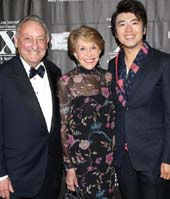 NEW YORK, NY - OCTOBER 10: Sandy Weill, Joan Weill and Lang Lang attend LLIMF 10th Anniversary Gala Dinner at Cipriani 25 Broadway on October 10, 2018 in New York. Photo by Krista Kennell/PMC