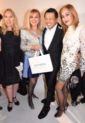 Lauren Lawrence, Katlean De Monchy, Zang Toi and Lucia Hwong Gordon.  Photo by:  Rose Billings / Blacktiemagazine.com