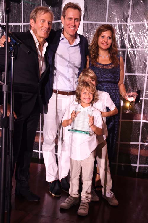 Michael Bolton, Scott Seltzer & Samriti Family.  Photo by:  Rose Billings/Blacktiemagazine.com