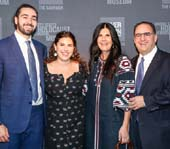 Jonah Lazowski and Jesse Marlo Lazowski, New York Next Generation Board Members and Event Chairs with their parents, Marcia and Alan Lazowski, former U.S. Holocaust Memorial Council member. Photo Credit: Gianna Bertoli / Michael Priest Photography for U.S. Holocaust Memorial Museum
