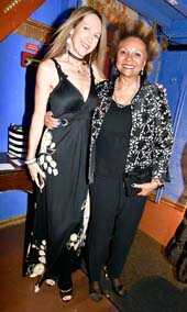 Sara Johnson Kaplan and actress/singer Leslie Uggams . Photo by:  Rose Billings/Blacktiemaagzine.com