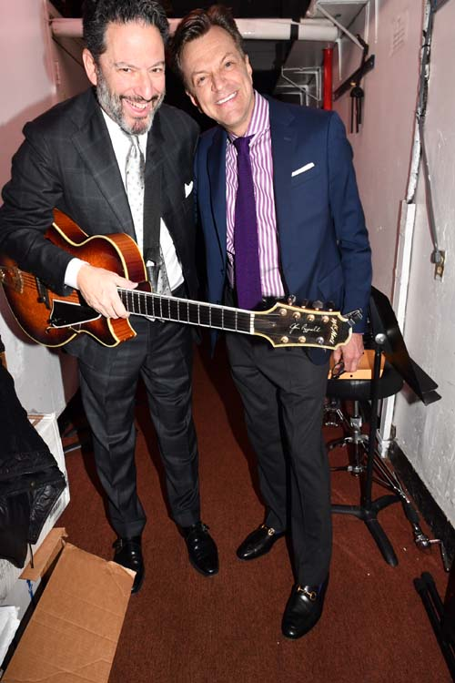 John Pizzarelli and Jim Caruso.  Photo by:  Rose Billings/Blacktiemagazine.com