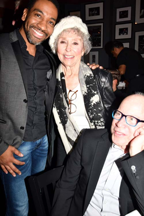 E. Clayton Cornelious and Rita Moreno.  Photo by:Rose Billings/Blacktiemagazine.com
