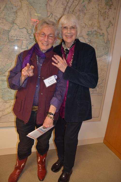 Blanche Wiesen Cook and Clare M. Closs.  Photo by: Rose Billings/Blacktiemaagzine.com