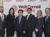 Dr. Christopher Barbieri, Dr. Sarah Rutherford, Dean Augustine M.K. Choi,Weill Cornell Student Overseer Andrew Griswold, Dr. Silvia Formenti, Dr. Lewis Cantley.  Photo by:   Studio Brooke