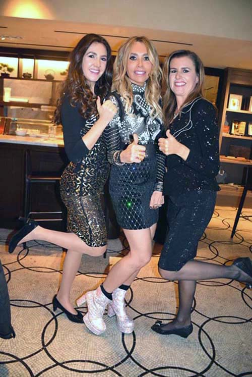 Malia Reichmann, Lieba Nesis and Miriam Weiss.  Photo by:  Rose Billings/Blacktiemagazine.com