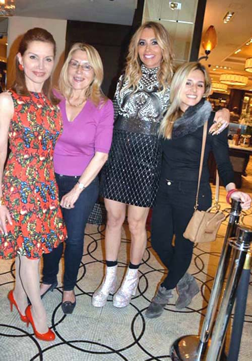 Jean Shafiroff, Dolly Lenz, Lieba Nesis and Jenny Lenz.  Photo by:  Rose Billings/Blacktiemagazazine.com