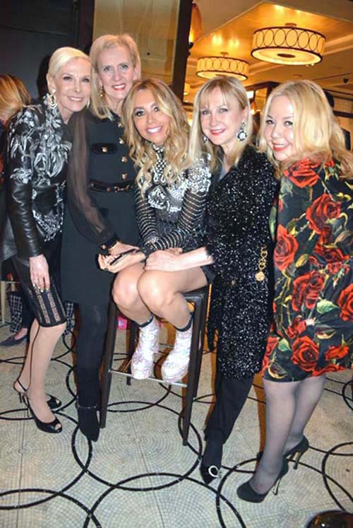 Michele Herbert, Ruth Miller, Lieba Nesis, Katlean de Monchy and Adele Nino.  Photo by:  Rose Billings/Blacktiemagazine.com