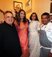 Sandeep Khosla, Meera Gandhi, Mirai Doshi, Chef Floyd Cardoz. Photo credit: �Jaffer Snaps India