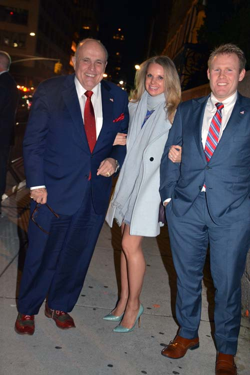 107th Mayor of NYC, Rudy Giuliani, Andrew Giuliani and his lovely wife.  Photo by:  Rose Billings/Blacktiemagazine.com
