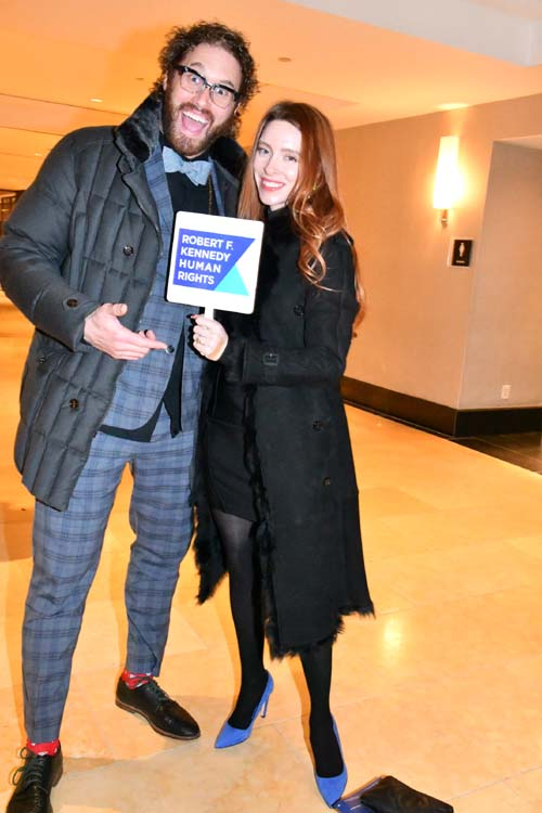T J Miller and Kate Miller.  Photo by:  Rose Billinsgs/Blacktiemagazine.con