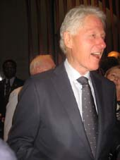 Bill Clinton.  Photo by:  Aubrey Reuben