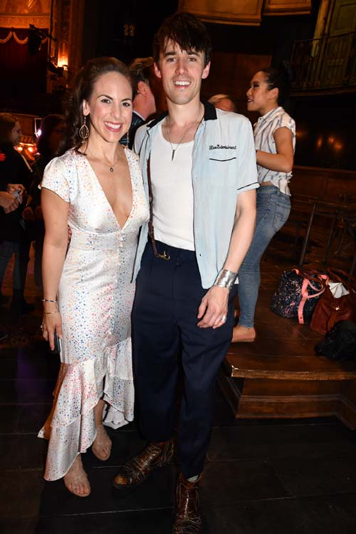 Dawn Derow and Reeve Carney. Photo by:  Rose Billings/Blacktiemagazine.com