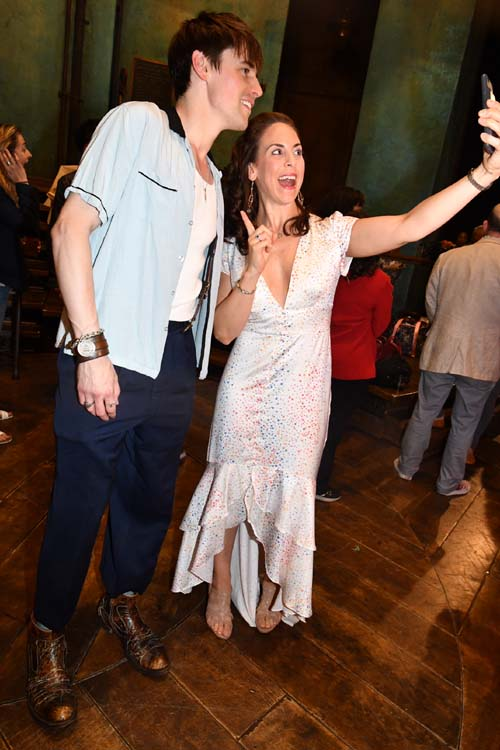 Reeve Carney and Dawn Derow.Photo by:  Rose Billings/Blacktiemagazine.com