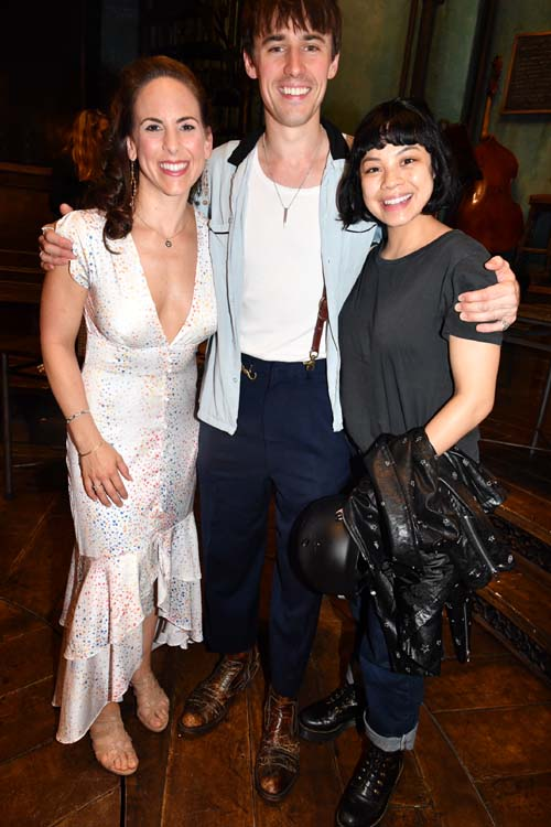 Dawn Derow ,Reeve Carney and Eva Noblezada.. Photo by:  Rose Billings/Blacktiemagazine.com