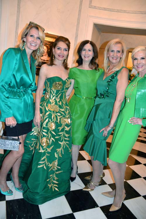 Kathy Prounis, Jean Shafiroff, Penny Grant, Ruth Miller and Michelle Herbert.  Photo by:  Rose Billings/Blacktiemaagzine.com